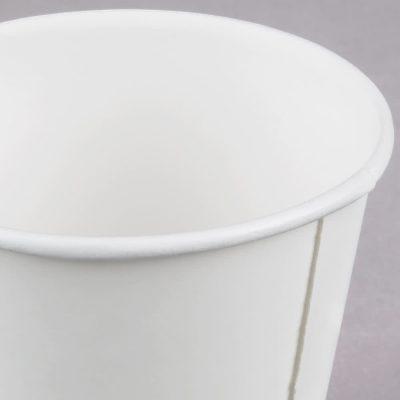 Vaso de papel - borde enrollado