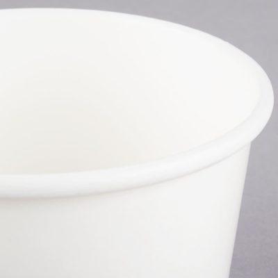 Vaso para helado - borde enrollado