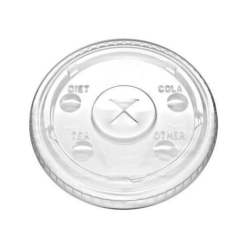 Tapa plana PLA para vaso trasparente